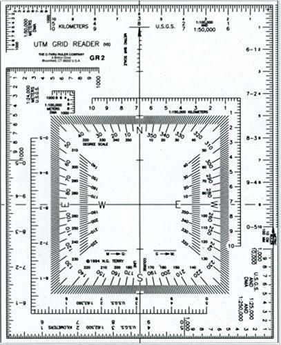 Westcott UTM Kartenleser/Plotter, 12,7 x 15,2 cm, transparent (GR-2)