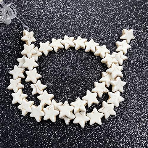 FICI Accesorios de joyería Piedra Natural Forma de Estrella de mar Encanto Perlas de Agujero Perlas espaciadoras para Mujeres Hombre Fabricación de Joyas Collar de Bricolaje Accesorios de Pulsera