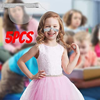 5 PCS Mini Kids Fashion Breathable Face Cover, Washable Reusable Comfortable Face Cover, Transparent PVC Visual Face Cover, Good Gift For Kids Gray (Gray, 1 PCS)