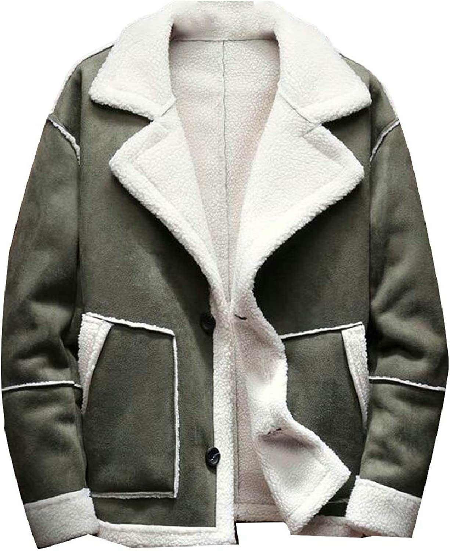 37ec0396fd2a ZXFHZS-CA Men Large Size Fashion Fashion Fashion Single-Breasted Fleece  Lined Jacket Outerwear Coat d21243