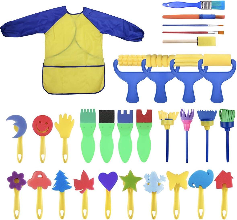 MAXMAXI Elegant Children's DIY Painting Sponge P Set 31 Max 58% OFF Brush