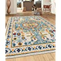 World Rug Gallery 5 Inch X 7 Inch Bohemian Medallion Classic Multi Area Rug