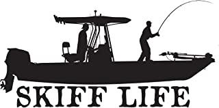 Skiff Life T-Top Flats Console Fishing Boat Decal Boat Stickers