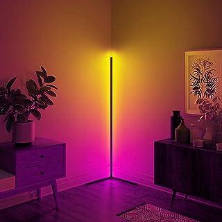 Lampadaire LED à Intensité Variable avec Télécommande Salon Fête Luminosité Réglable Lumière d'Atmosphère à Changement Cou...