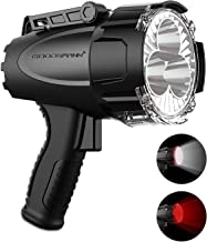 Rechargeable Marine Spotlight by GOODSMANN LED 6000 Lumen Portable Handheld Light Waterproof Searchlight 70W Hunting Work ...