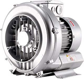 UNi-CROWN 1/2HP -130mbar Side Channel Blower Ring Blower Single Phase Blower for Aquirum, Regenerative Air Pump Sewage Aeration UC-RB037/1
