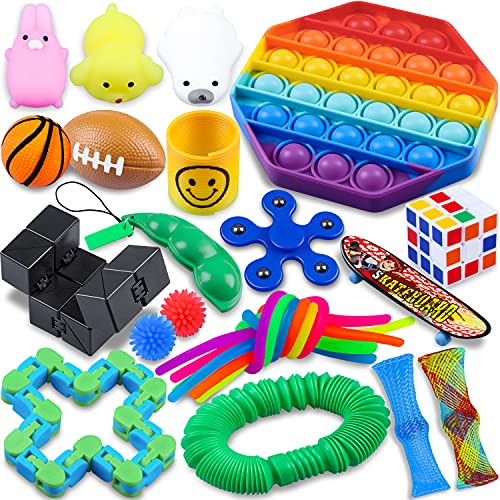Fidget Packs,24 Pack Sensory Toys Set,ADHD Toys for Kids,Toys for Reducing The Stress and Anxiety of...