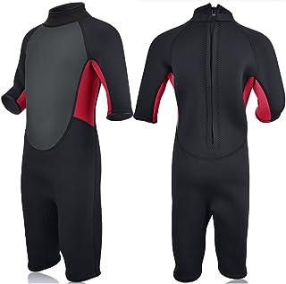 9b0ac6603d Realon Kids Wetsuit Shorty Full 3mm Premium Neoprene Lycra Swimsuit Toddler  Baby Children and Girls Boys