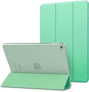 MoKo Funda para iPad Air 2 - Ultra Slim Función de Soporte Protectora Plegable Smart Cover Trasera Transparente Durable para Apple iPad Air 2 9.7 Pulgadas, Menta Verde (Auto Sueño/Estela)