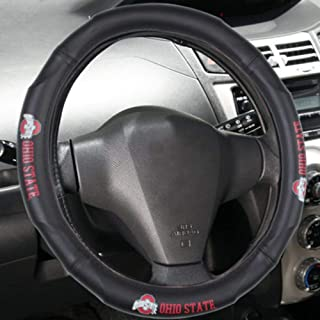 Renewed NCAA Leather Steering Wheel Cover