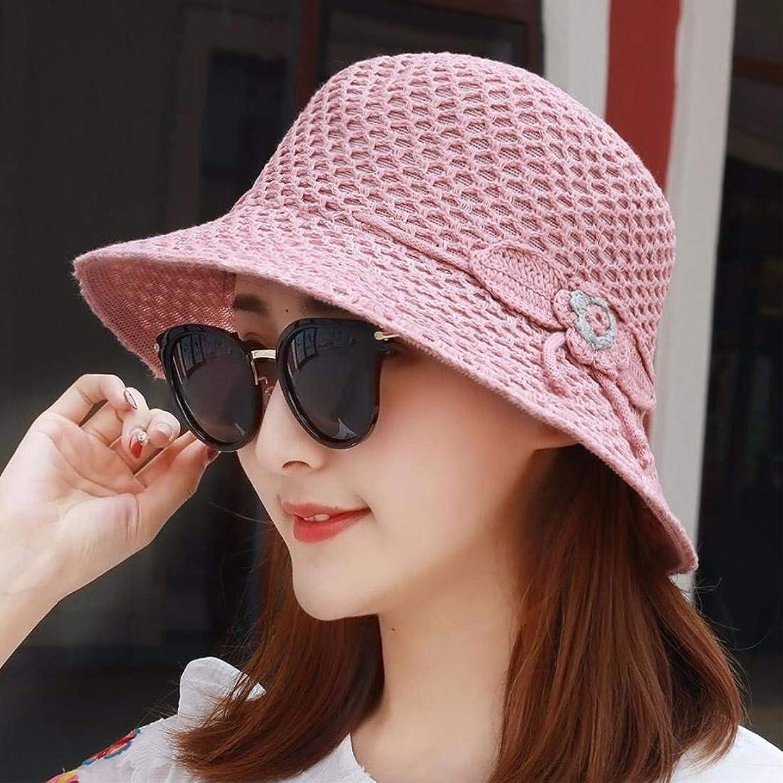 予防接種する昆虫を見るの配列Chuangshengnet 女性の日曜日の帽子は広い縁のPackableの通気性のバケツの帽子を編みました