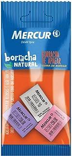 Borracha, Mercur B01010301038, Multicor, Pacote de 3