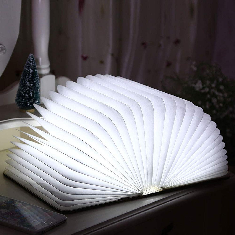 WQGNMJZ Gute Qualitt Kreative Massivholz Buch Licht LED-Buch Desktop Light 360 ° Falten Rotierende Hngende Nachtlicht Portable Creative Light