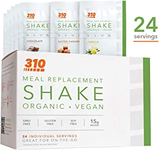 24 CT Organic Shake Box - Vegan Plant Protein Powder and Meal Replacement Shake - By 310 Nutrition - Gluten, Dairy and Soy...