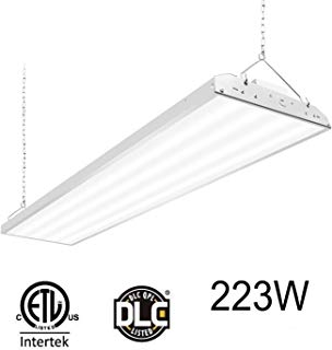 CINOTON 4FT Linear LED High Bay Light, LED Shop Light Fixture 223W 28990lm 1-10V dimmable 5000K [750W Fluorescent Equiv.] Motion Sensor Optional, Indoor Commercial Warehouse Area Light (223W 1 Pack)