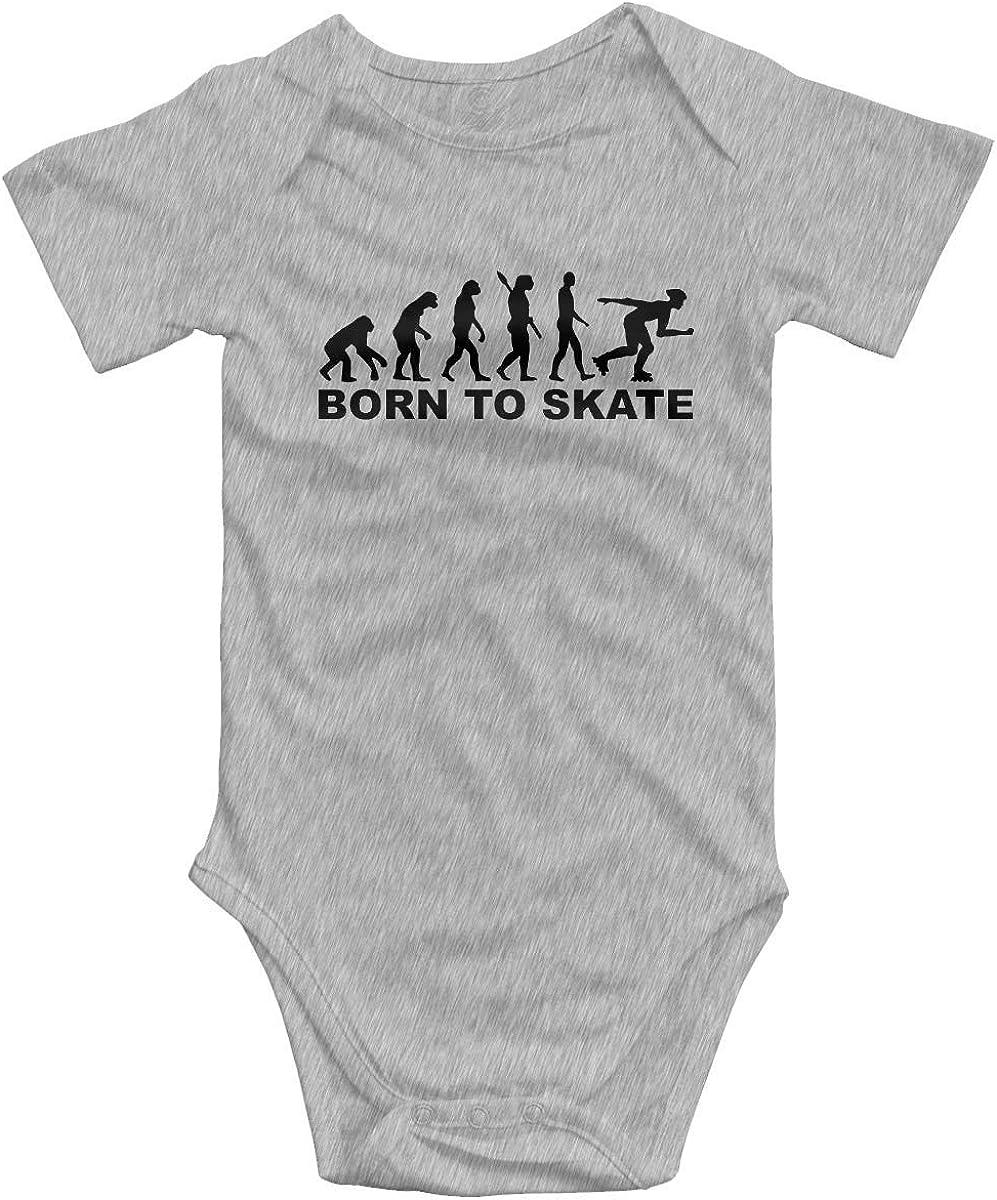 AOOEDM Monopat/ín Born to Skate Romper Body de beb/é Infantil Mono de Moda Ropa para beb/é Gris
