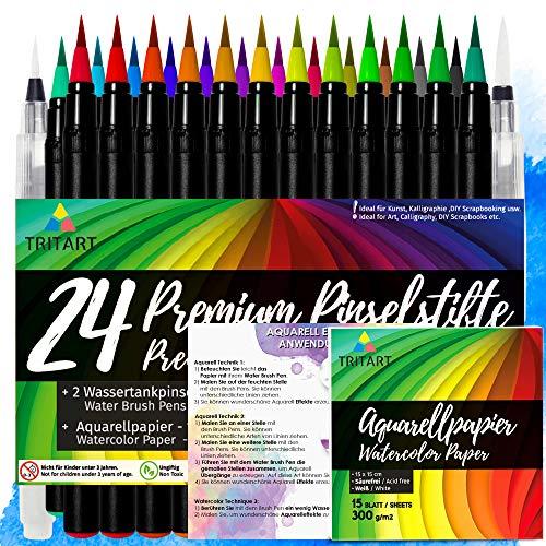 2 pcs Schwarze Acrylstifte Marker Stifte Set Wasserbasis Art Filzstift