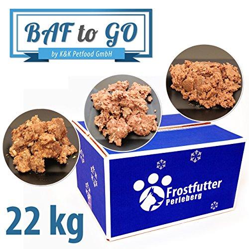Frostfutter Perleberg Barf Hundefutter 22kg BAF to GO-Paket - Feuchtfutter für Hunde