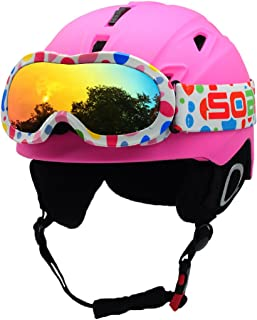 BeBeFun Toddler and Kids Snow Sports Ski Helmet and with Matching Goggles