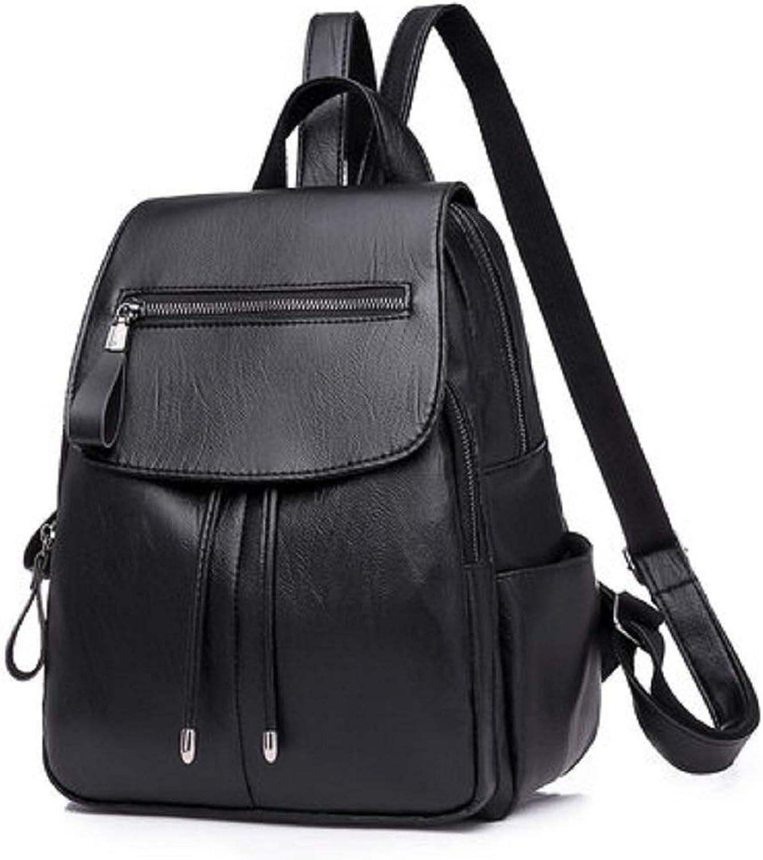 Deawecall Damen Concise Modische Modische Modische Rucksack Stilvolle Casual Daypack (Farbe   Schwarz) B07PF3RRKD  Rich-pünktliche Lieferung b7017d