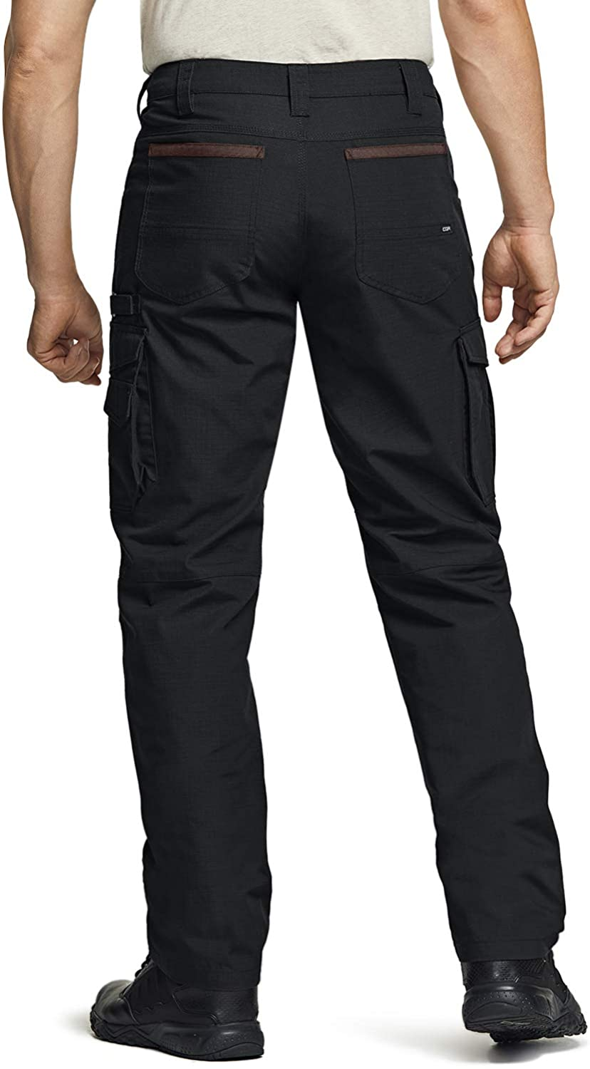 Outdoor Utility Operator EDC Straight//Cargo Pants Water Repellent Tactical Pants CQR Mens Ripstop Work Pants