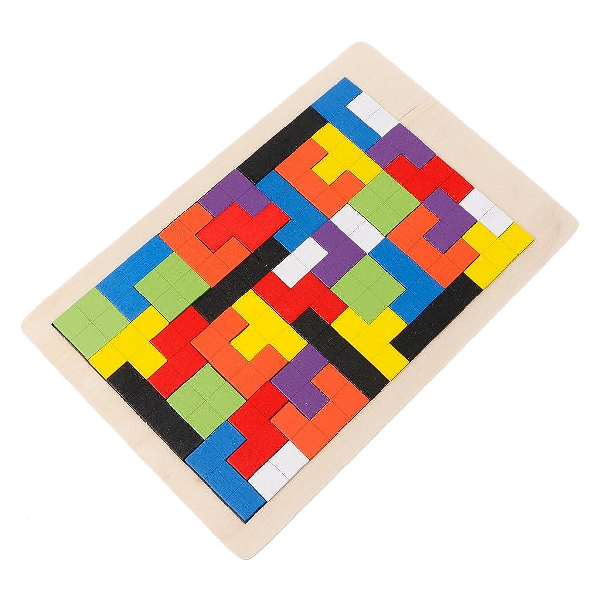 飲食店コース急行するパズル、Dabixx木製テトリスパズルゲームジグソーパズルTangramキッズ教育玩具