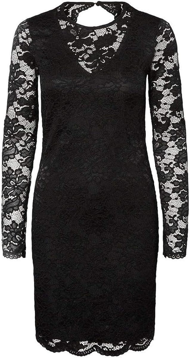 VERO MODA Women's Joy Lace Long Sleeve Dress