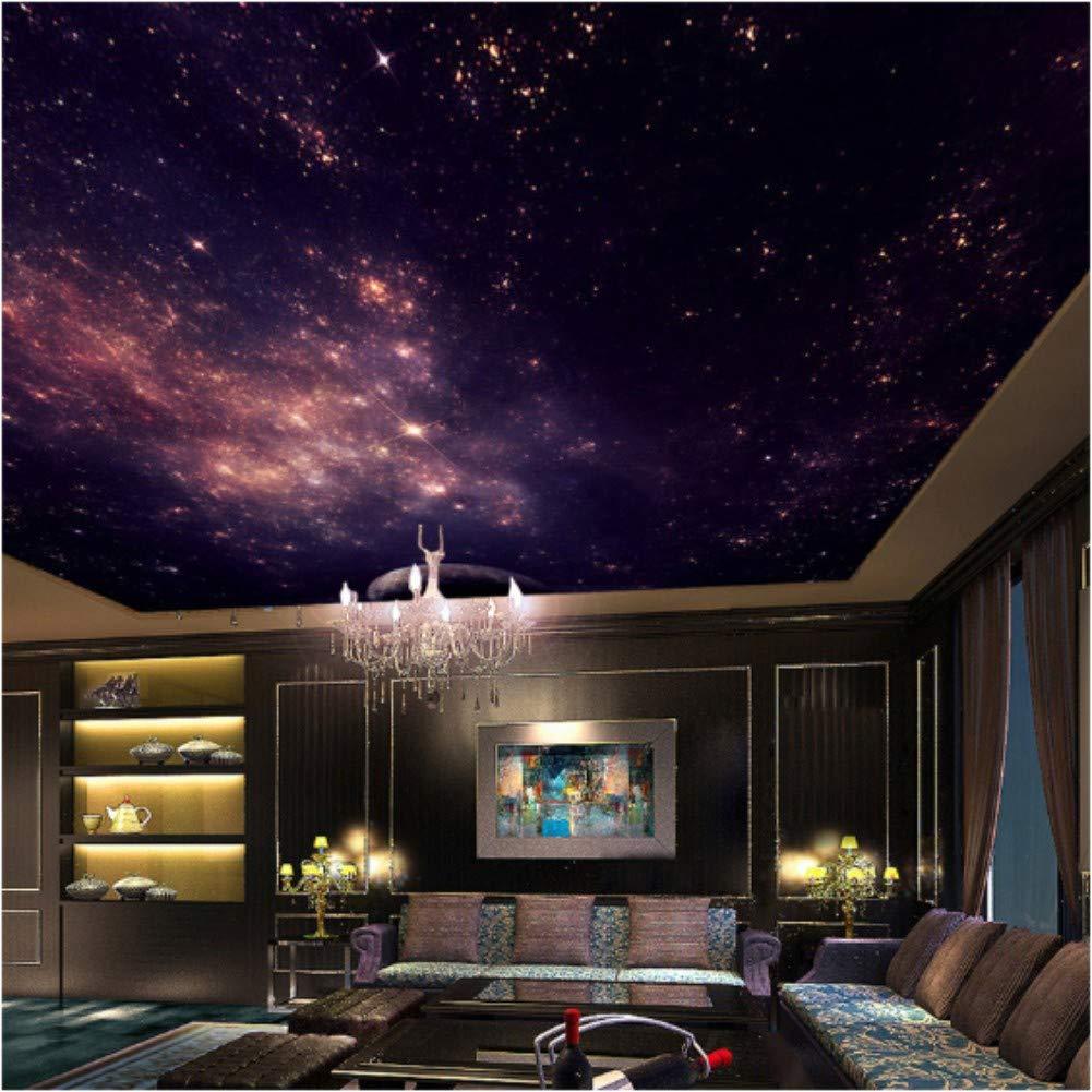 Amazon Iusasdz カスタム壁画3d星雲星雲夜空壁画天井天然痘壁紙寝室ソファテレビ背景銀河写真壁紙b 250x175cm 壁紙