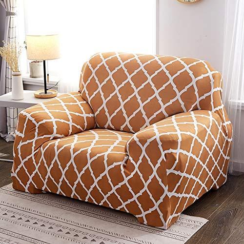 Funda de sofá de Silla elástica geométrica, Funda de sofá Moderna, Fundas de sofá de Licra para Sala de Estar, Fundas de sofá A12, 1 Plaza