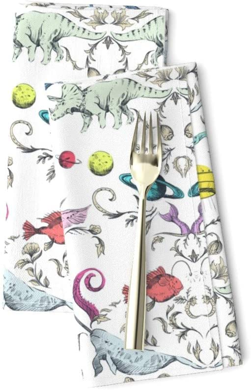Amazon Com Unicorn Linen Cotton Dinner Napkins Myth And Mystery Light Dinosaur Outer Space Colorful Dinosaurs Narwhal Jackalope Fish Wallpaper By Pattern State Set Of 2 Dinner Napkins Home Kitchen