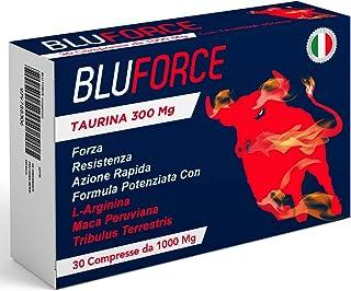 BluForce® Compresse Taurina Arginina Maca Peruviana Tribulus Terrestris | Potenza e Rendimento | Massima Durata | Senza Co...