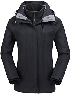 Women's Waterproof Ski Jacket 3-in-1 Winter Coat Windbreaker Fleece Inner for Snow Rain Hiking Outdoor