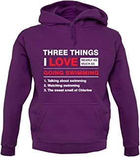 Three Things I Love Nearly As Much As Swimming - Unisex Hoodie/Hooded Top