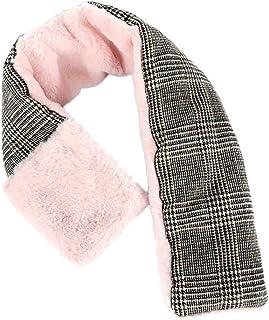 Fabriqué en Italie-luxe rose fausse fourrure écharpe Wrap col châle de cou chaud doux