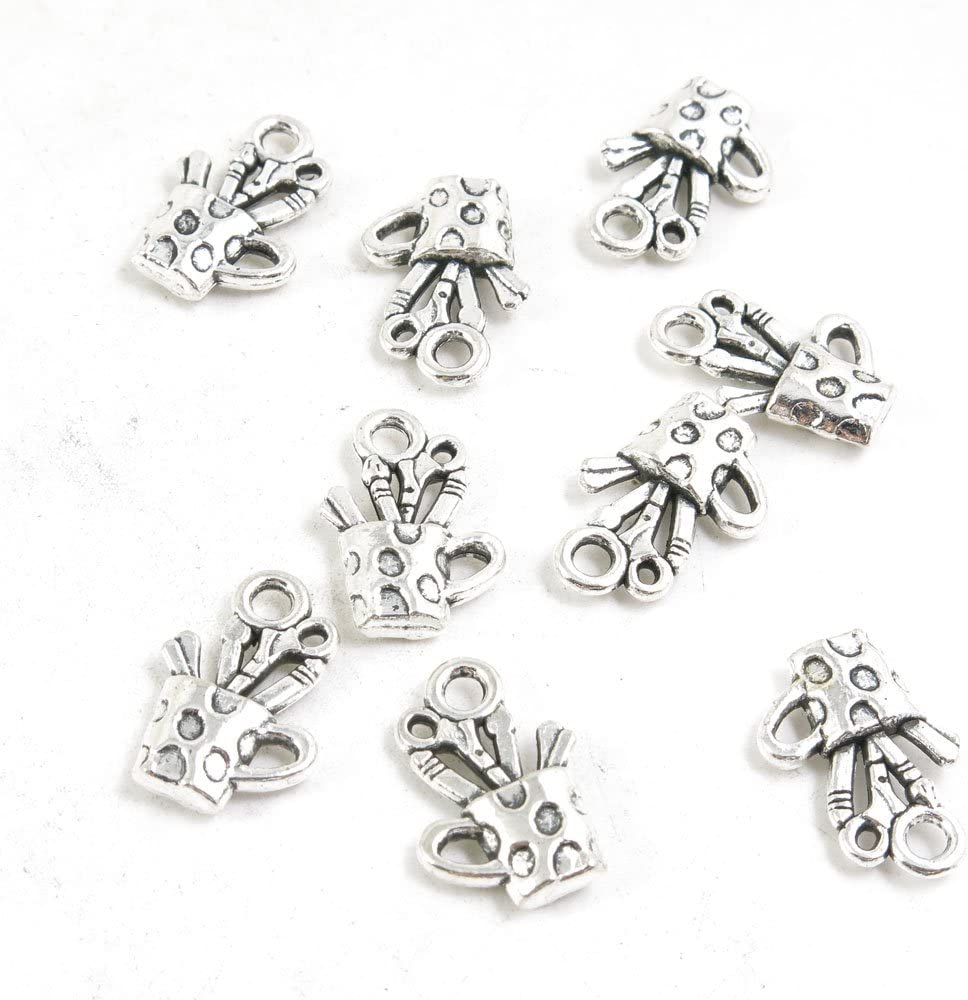Cheap super special price 790 Pieces Ranking TOP11 Antique Silver Tone Whol Making Jewelry Supply Charms