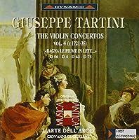 タルティーニ:ヴァイオリン協奏曲集 4 (グリエルモ/ラツァリ/ラルテ・デラルコ)