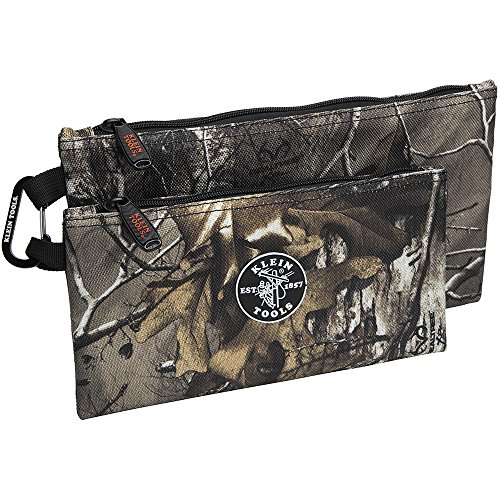 Zipper Bags, Camo Bags are 12.5 and 10-Inch, 1680d Ballistic Weave Camouflage 2-Piece Klein Tools 55560