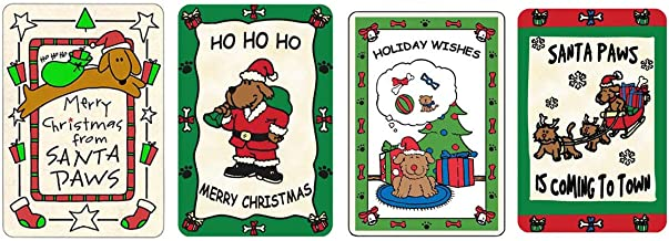 Crunchkins Edible Christmas (Rawhide) Cards for Dogs, Pack of 4