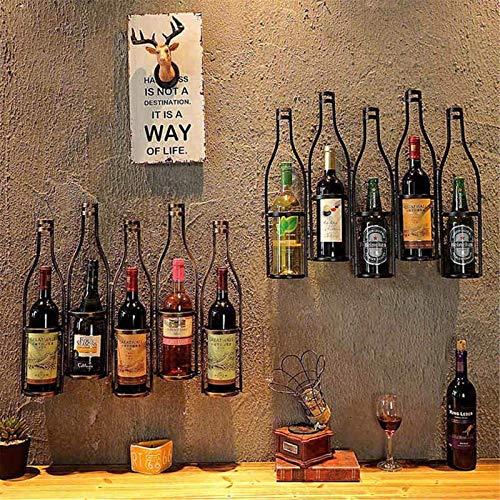 Elegante Botellero, Colgando titular Vino Bastidores pared del metal del sostenedor del vino de la vendimia titular de la botella Decoración contener hasta 5 botellas de vino de cocina Café Bar ,Estan