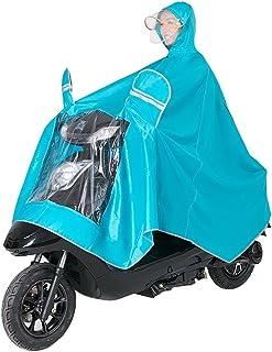 大人のシングルダブル帽子のデザイン電動バイクのオートバイのレインコートは、車の車のマスクのレインコートを増やす (Color : Blue-B, Size : XXXXL)