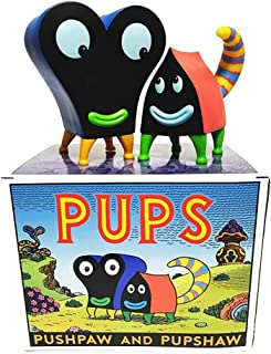 Press Pop Pupshaw and Pushpaw - Color Edition Designer Vinyl Figure by Jim Woodring