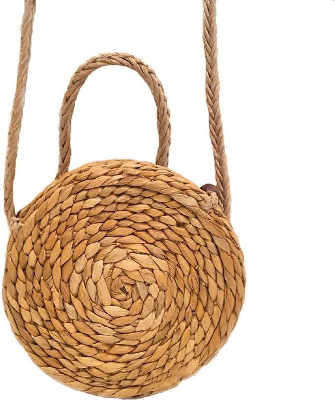 HWUDFSLG Frauen Böhmischen Umhängetasche Weibliche Sommer Strand Handtaschen Handtaschen Handtaschen Runde Vintage Stroh Handgemachte Gestrickte Umhängetaschen B07QJ4ZDXS  Berühmter Laden fef582
