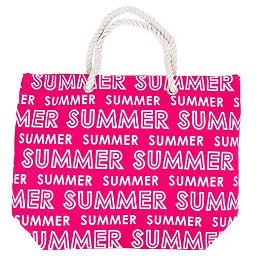 Traumschloss Strandtasche - Sommer Summer Motiv, Farbe:rosa