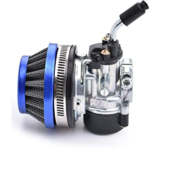 GOOFIT Performance Carb Carburetor Air Filter Assembly for 2-stroke 47cc 49cc Mini Pocket Bike Quad Chopper ATV Blue