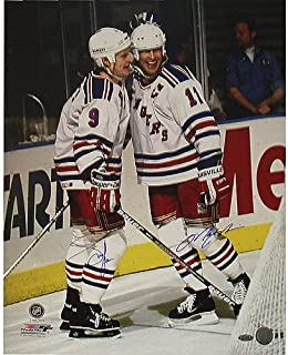 Steiner Sports NHL New York Rangers Adam Graves/ Mark Messier Dual Signed Celebration Behind The Goal 16x20 Photograph
