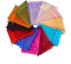 Pandahall 200PCS 4x6 Inches Mixed Color Organza Gift Bags with Drawstring