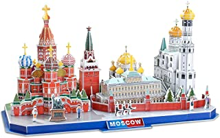 CubicFun 3D Puzzle City Architectural Model Kits Toys, Moscow Russia Cityline Collection