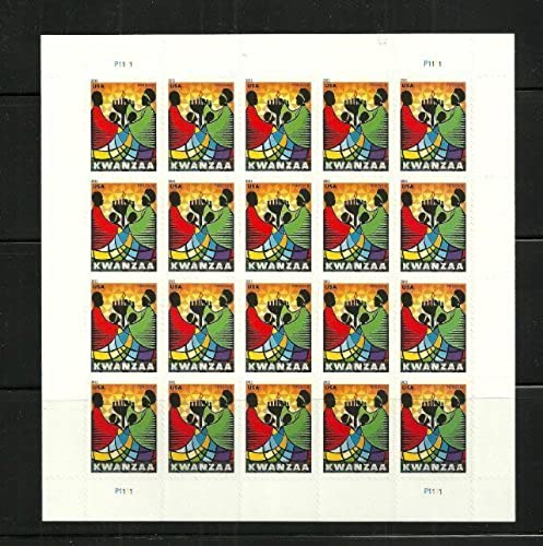 Kwanzaa Sheet of 20 Forever Stamps Scott 4584 by USPS