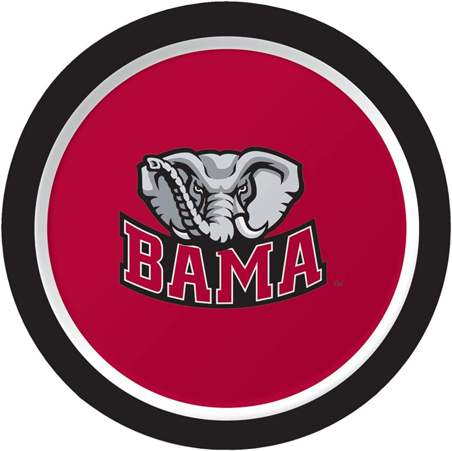 Club Pack of 96 NCAA University of Alabama Bama  Disposable Paper Party Lunch Plates 7