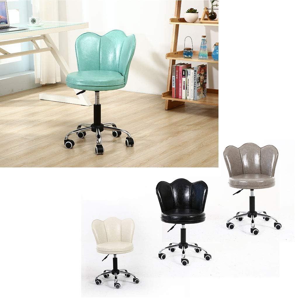 Chaise pivotante de Bureau Ergonomique sans Bras, Petites chaises de Travail avec Dossier Bas, Base en Acier réglable en Hauteur de 11 cm Brown